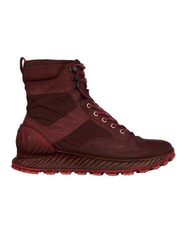 S0695 Garment Dyed Leather Exostrike Boot in Dark Burgundy