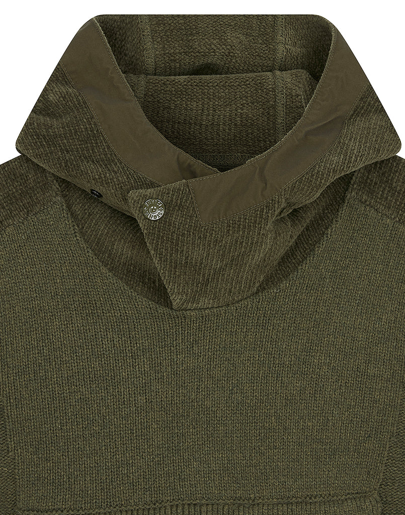 593FA Ghost Piece Knit in Military Green