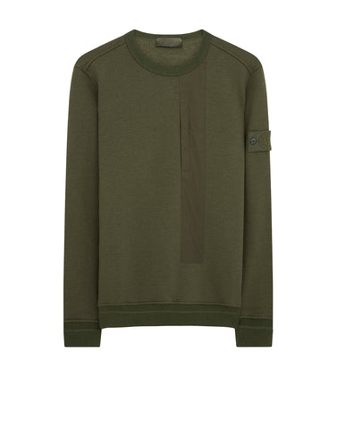 650F3 Ghost Piece Sweatshirt in Military Green