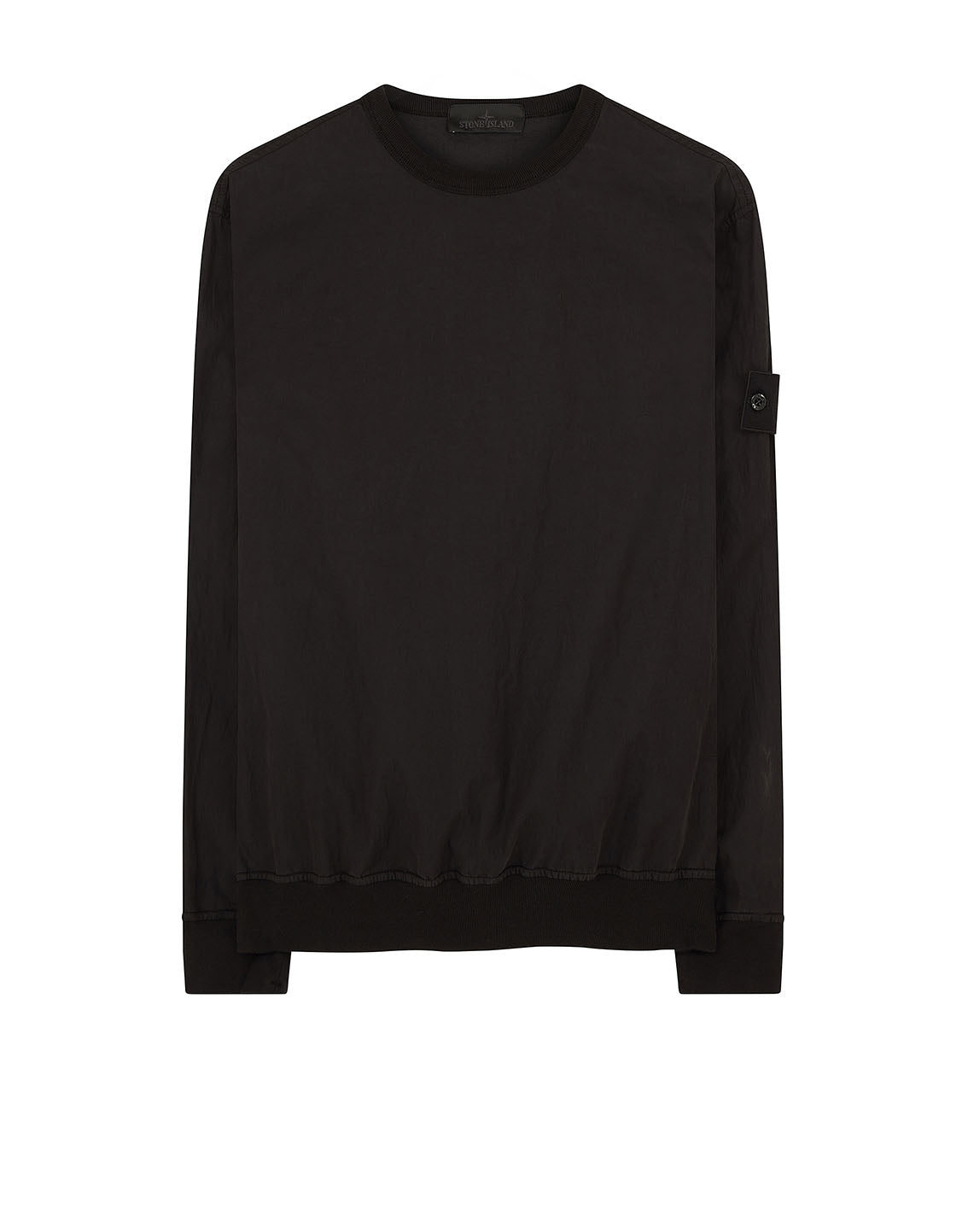 659F2 GHOST PIECE_COTTON NYLON TELA Sweatshirt in Black