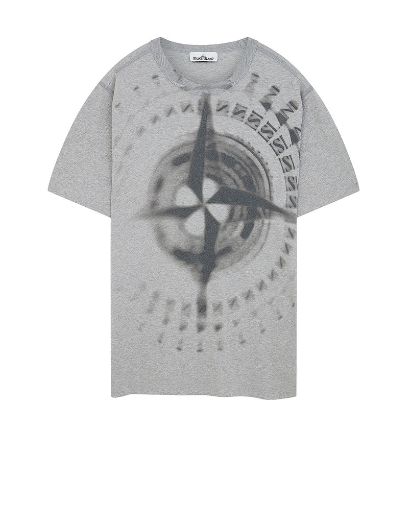 23383 'GRAPHIC FOUR' T-Shirt in Dust Grey