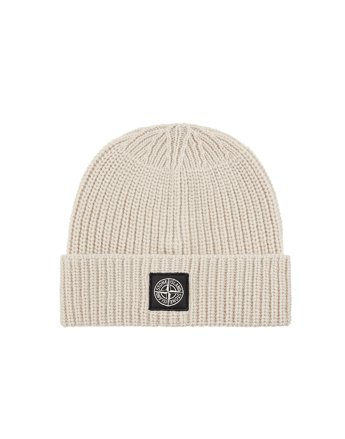 N10B5 Ribbed Wool Hat in Natural Beige