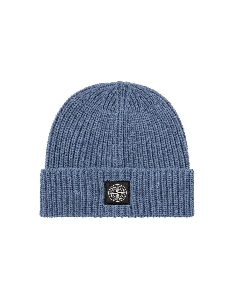 N10B5 Ribbed Wool Hat in Dark Blue