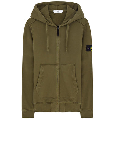 60220 HOODED SWEATSHIRT IN OLIVE
