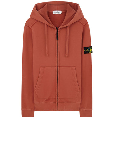 60220 HOODED SWEATSHIRT IN RUST