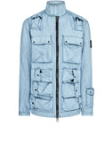 43764 CANVAS PLACCATO JACKET in Blue Marine