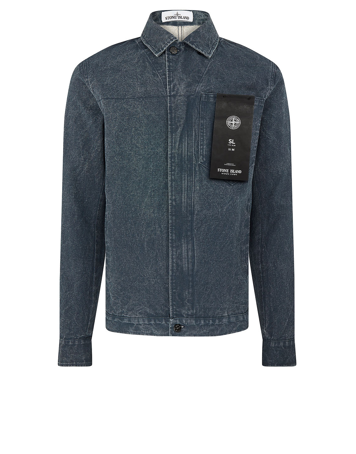 440J1 PANAMA PLACCATO Jacket in Blue Marine
