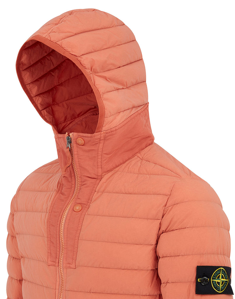 43125 Loom Woven Down Chambers Stretch Nylon-TC Jacket in Rust