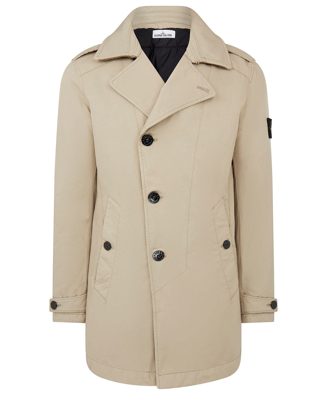 45249 DAVID-TC Short Trench Coat in Sand
