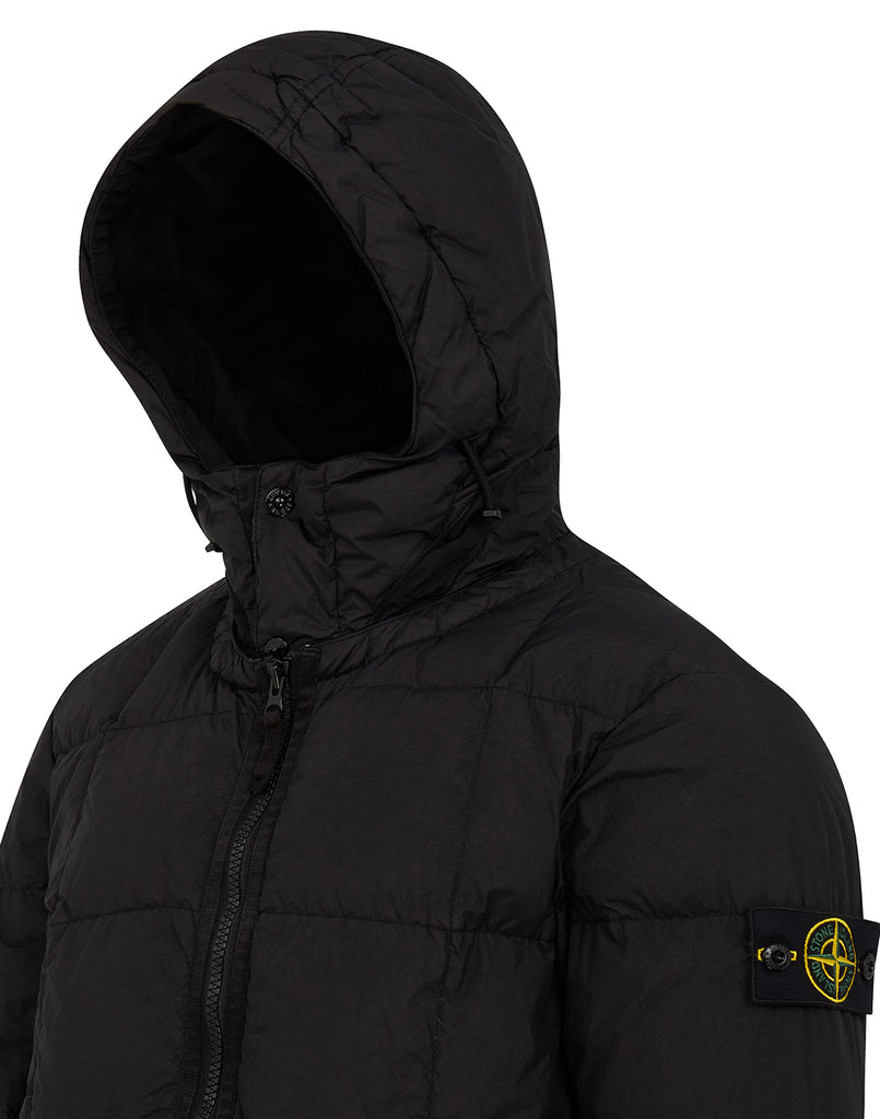 40223 Garment Dyed Crinkle Reps NY Down Jacket in Black
