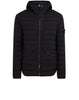 43125 Loom Woven Down Chambers Stretch Nylon-TC Jacket in Black