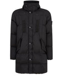70123 Garment Dyed Crinkle Reps NY Down Jacket in Black