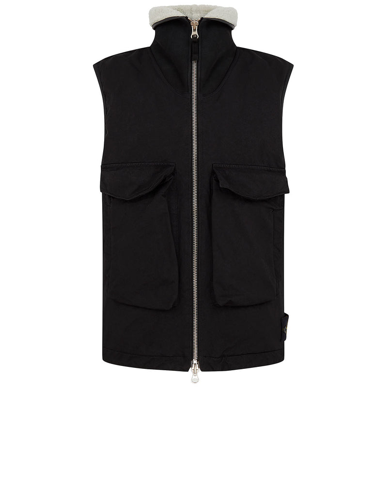 G0448 David-TC Down Gilet with Sheepskin in Black