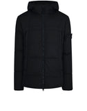 40723 GARMENT DYED CRINKLE REP NY Real Down Jacket in Black