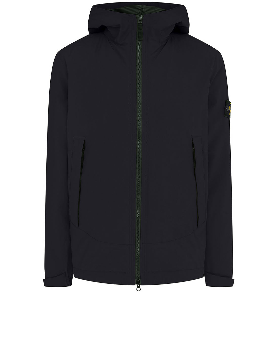 41627 SOFT SHELL-R WITH PRIMALOFT® INSULATION: Hooded blouson in Black