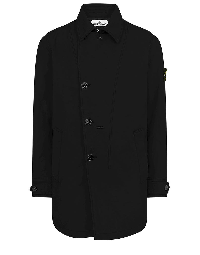 42149 DAVID-TC WITH PRIMALOFT® INSULATION TECHNOLOGY: Short trench coat in Black