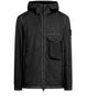43035 LAMY FLOCK: Hooded Jacket in Black