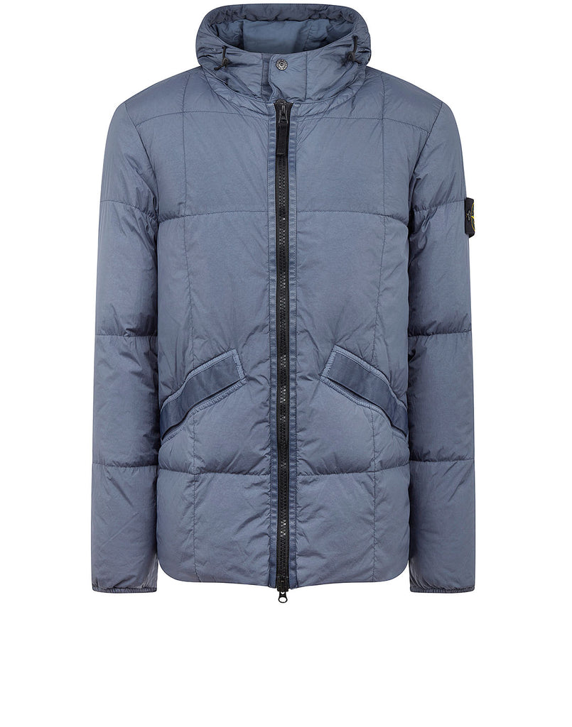 40223 GARMENT DYED CRINKLE REPS NY DOWN Jacket in Dark Blue