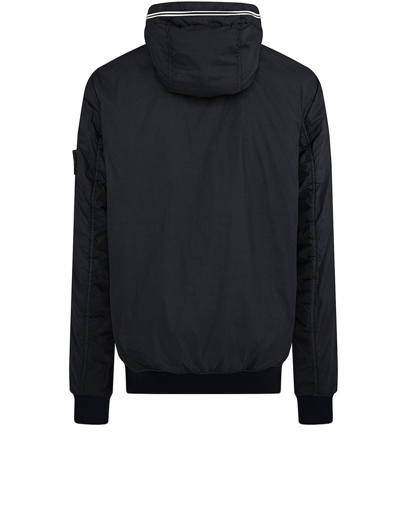 40423 GARMENT DYED CRINKLE REPS NY WITH PRIMALOFT®-TC: Hooded blouson in Charcoal