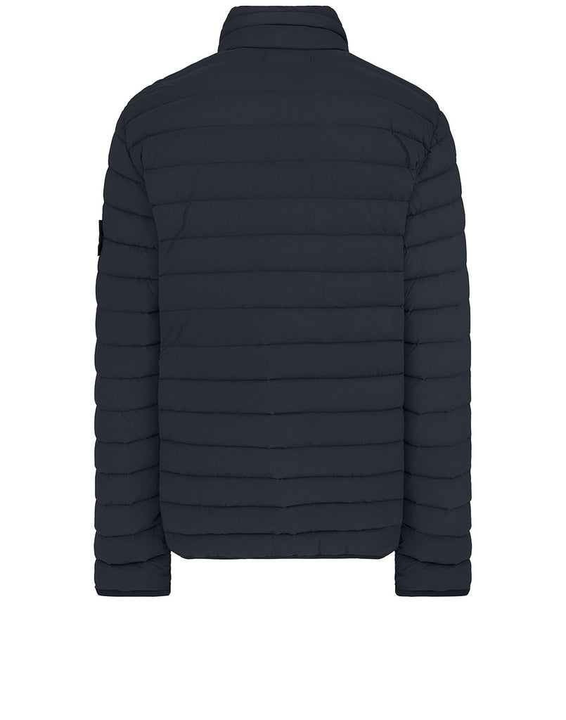 41025 LOOM WOVEN DOWN CHAMBERS STRETCH NYLON-TC: Down Blouson in Navy