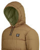 43234 POLY-COLOUR FRAME DOWN-TC: Anorak in Tobacco