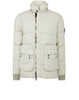 41833 Lino Resinato Down-TC Jacket in Dust