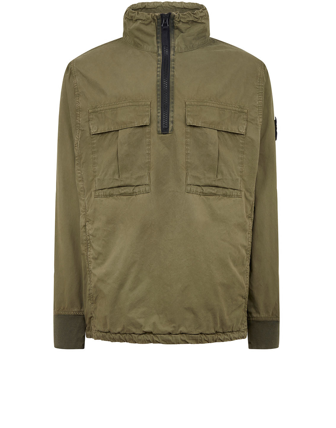 117WN 'OLD' DYE TREATMENT Overshirt in Olive
