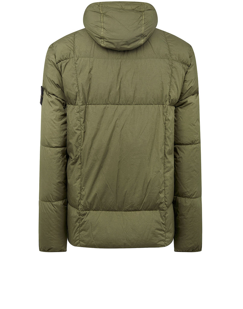 40223 GARMENT DYED CRINKLE REPS NY DOWN Jacket in Olive