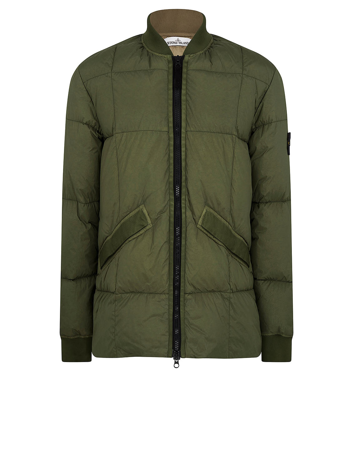 40423 Garment Dyed Crinkle Reps NY Down Jacket in Olive