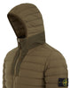 43125 Loom Woven Down Chambers Stretch Nylon-TC Jacket in Olive