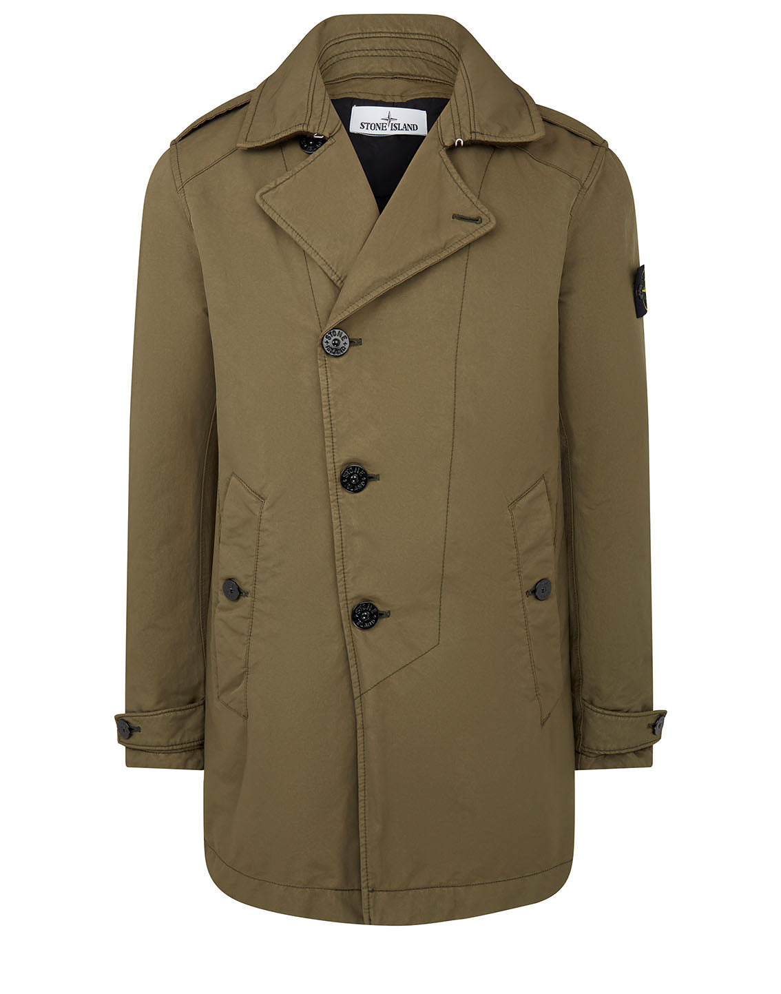 45249 DAVID-TC Short Trench Coat in Olive