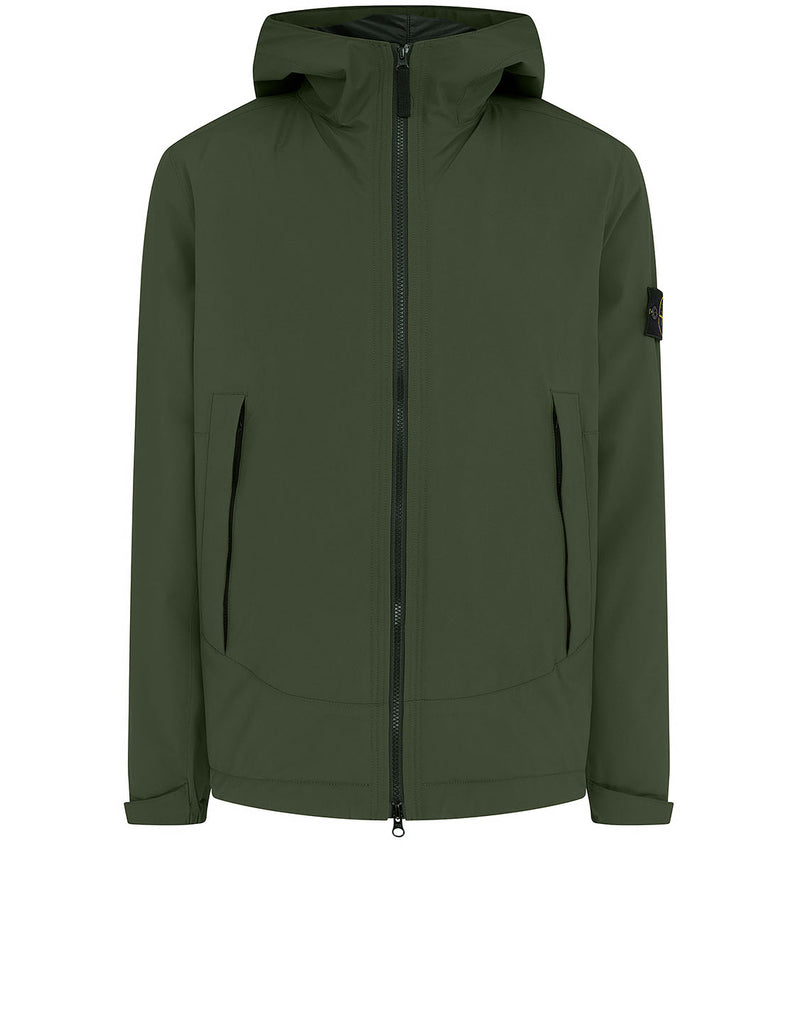 41627 SOFT SHELL-R WITH PRIMALOFT® INSULATION: Hooded blouson in Dark Forest