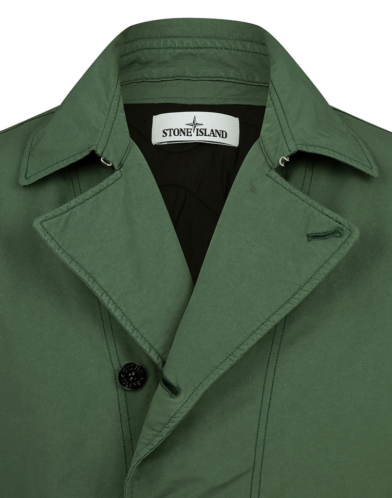 42149 DAVID-TC WITH PRIMALOFT® INSULATION TECHNOLOGY: Short trench coat in Dark Forest