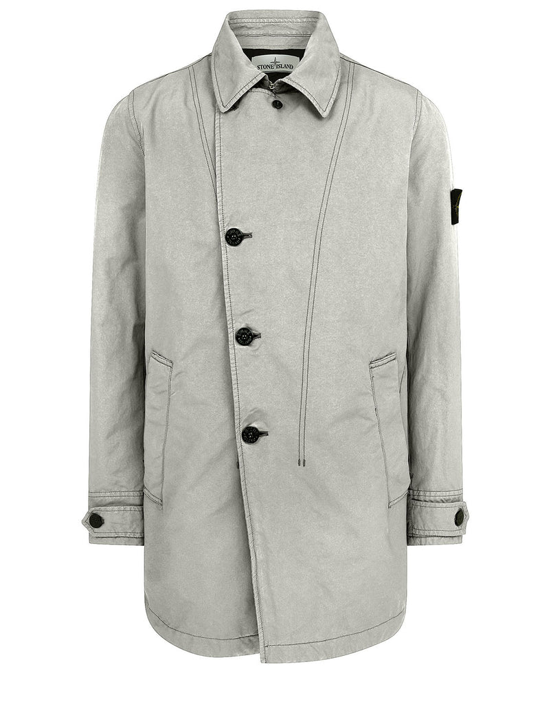 42149 DAVID-TC WITH PRIMALOFT® INSULATION TECHNOLOGY: Short trench coat in Dove Grey