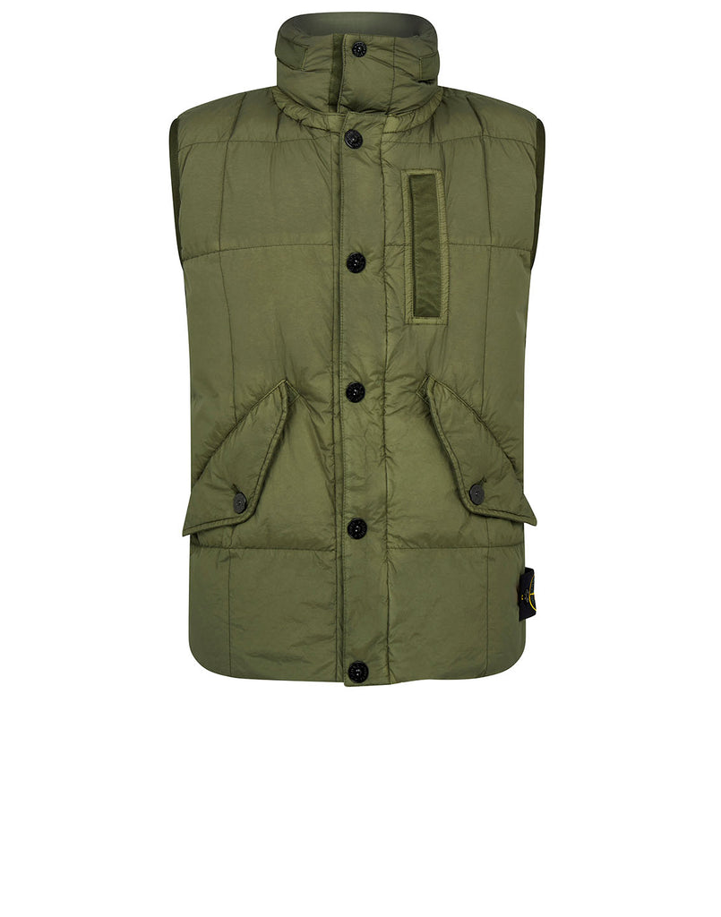 G0123 Garment-Dyed Crinkle Reps Ny Down Jacket in Olive