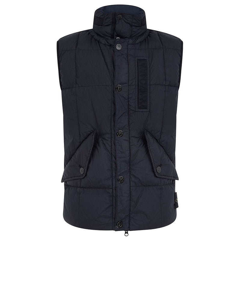 G0123 Garment-Dyed Crinkle Reps Ny Down Jacket in Navy Blue