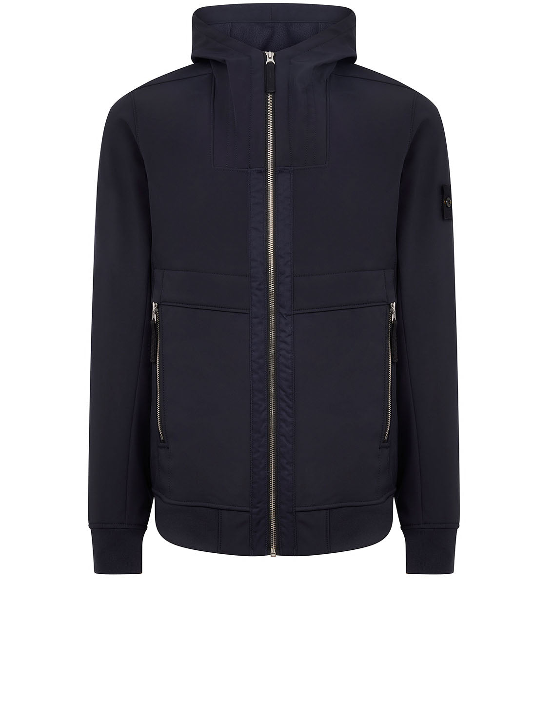 Q0222 Soft Shell-R Hooded Jacket in Navy Blue