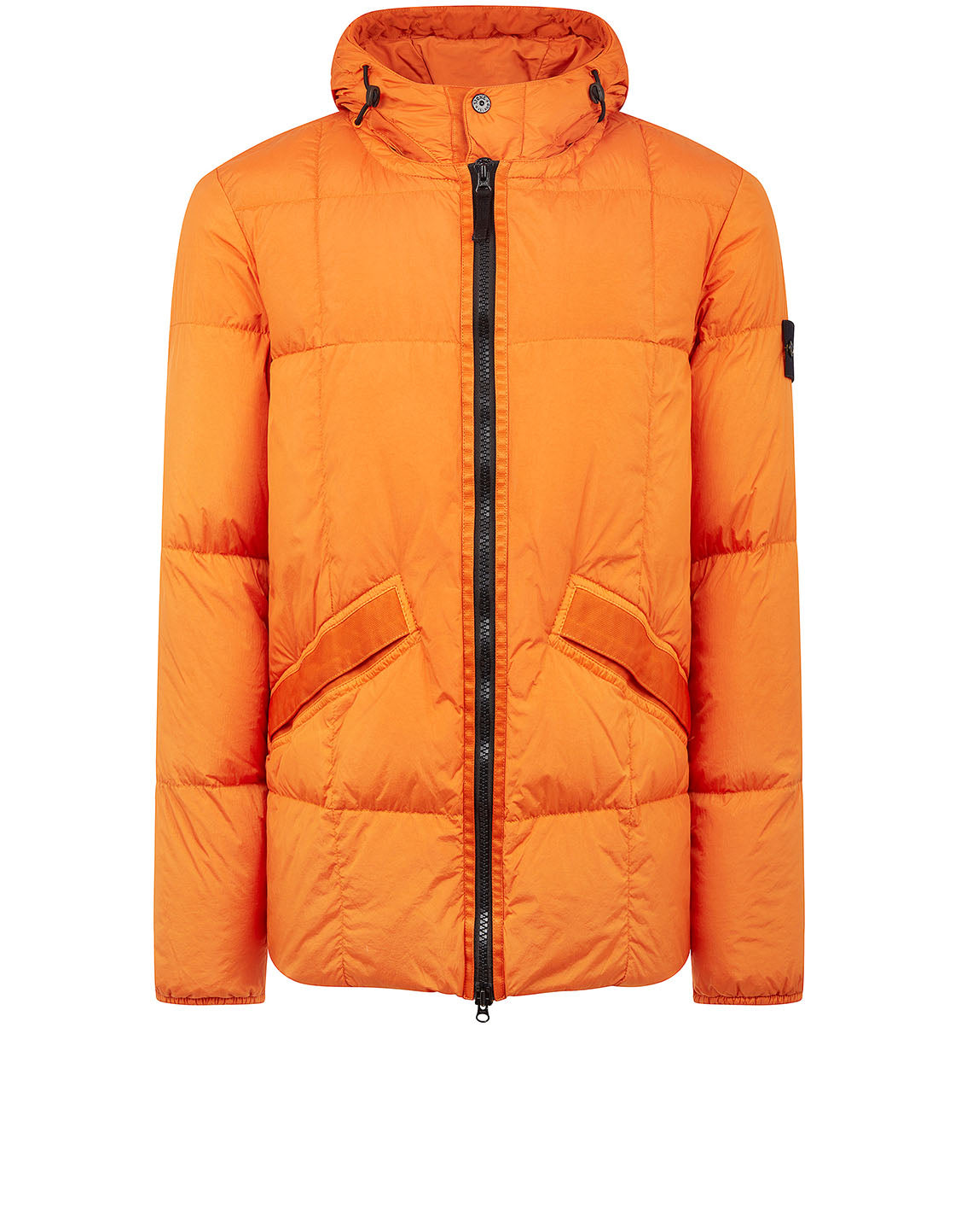 40223 Garment Dyed Crinkle Reps NY Down Jacket in Orange