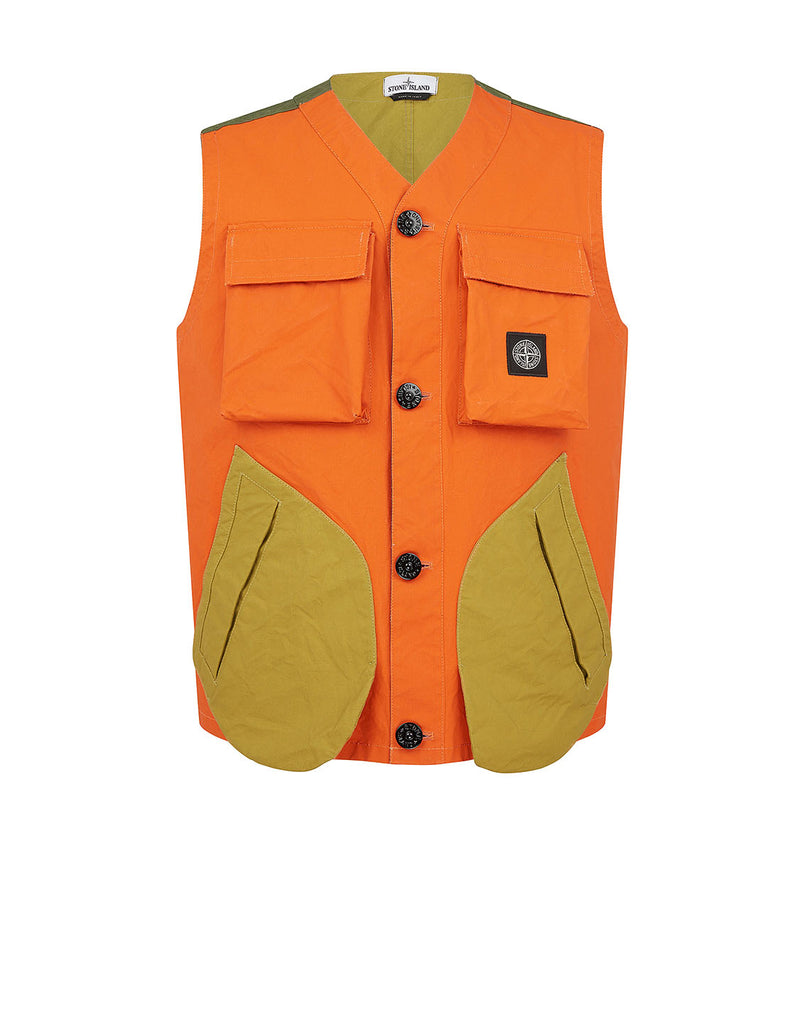G0555 Tela Placcata Bicolore Vest in Orange