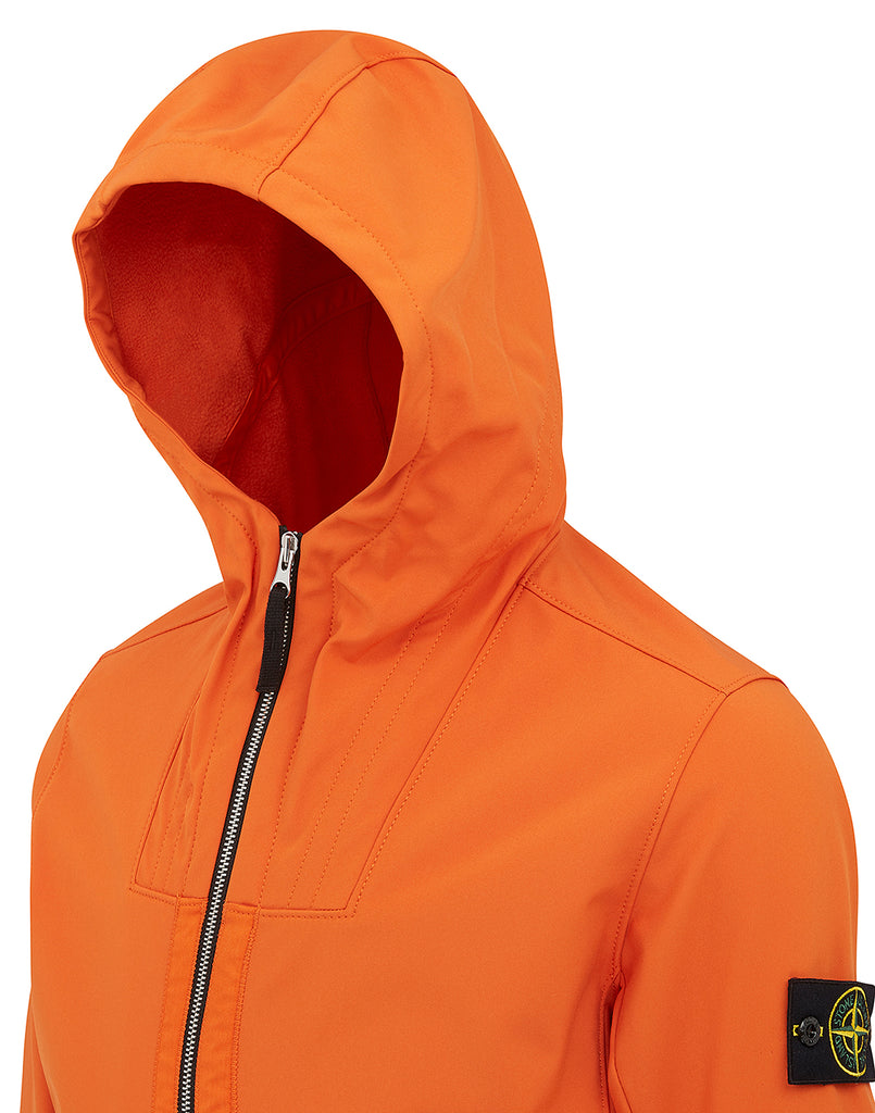 Q0222 Soft Shell-R Hooded Jacket in Orange
