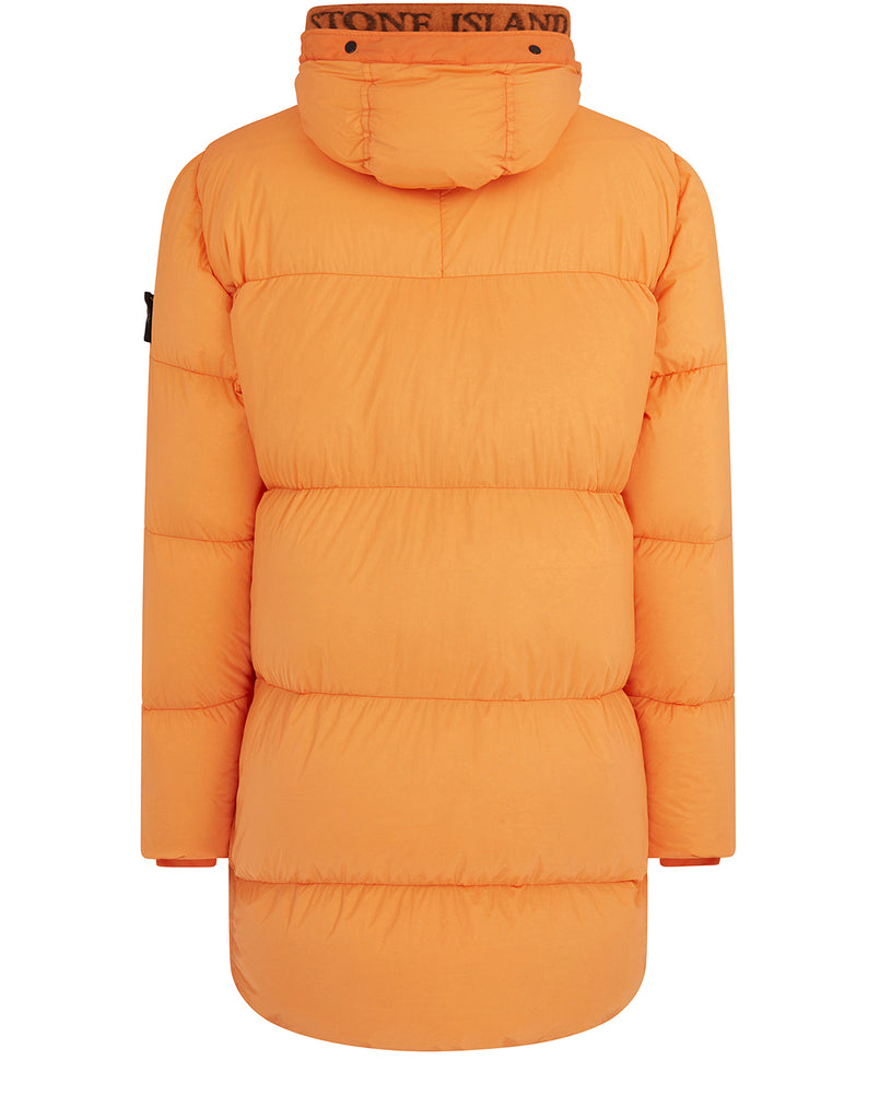 70123 GARMENT DYED CRINKLE REPS NY DOWN: Parka in Orange