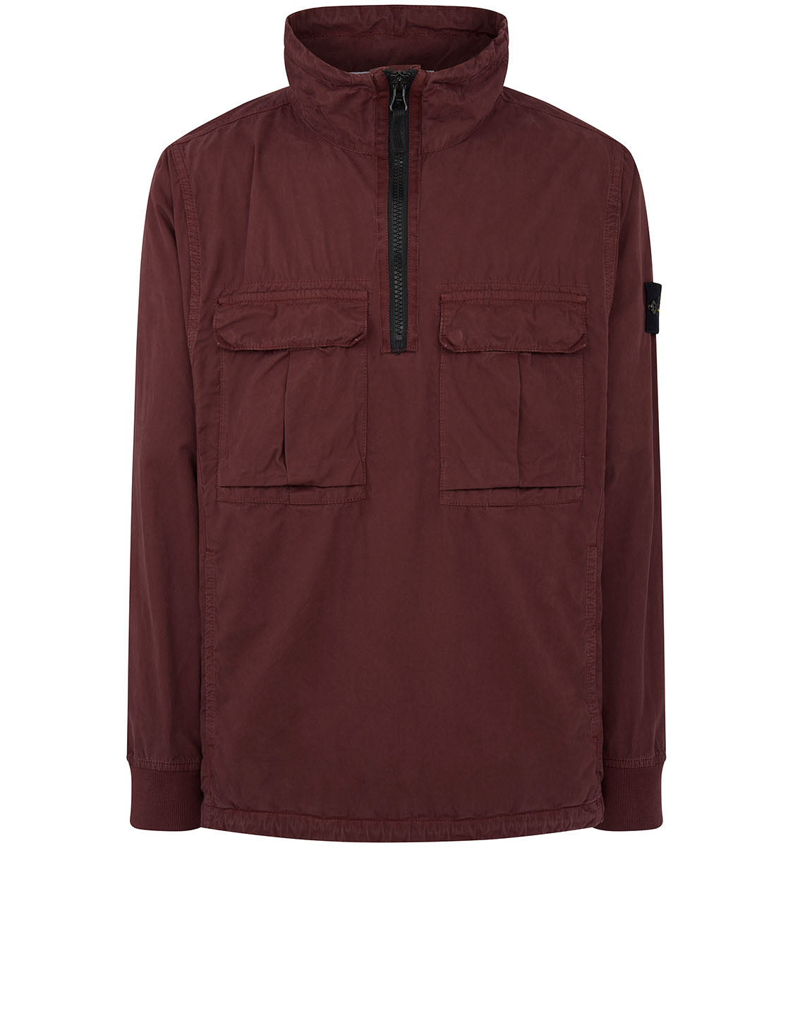 117WN 'OLD' DYE TREATMENT Overshirt in Dark Burgundy