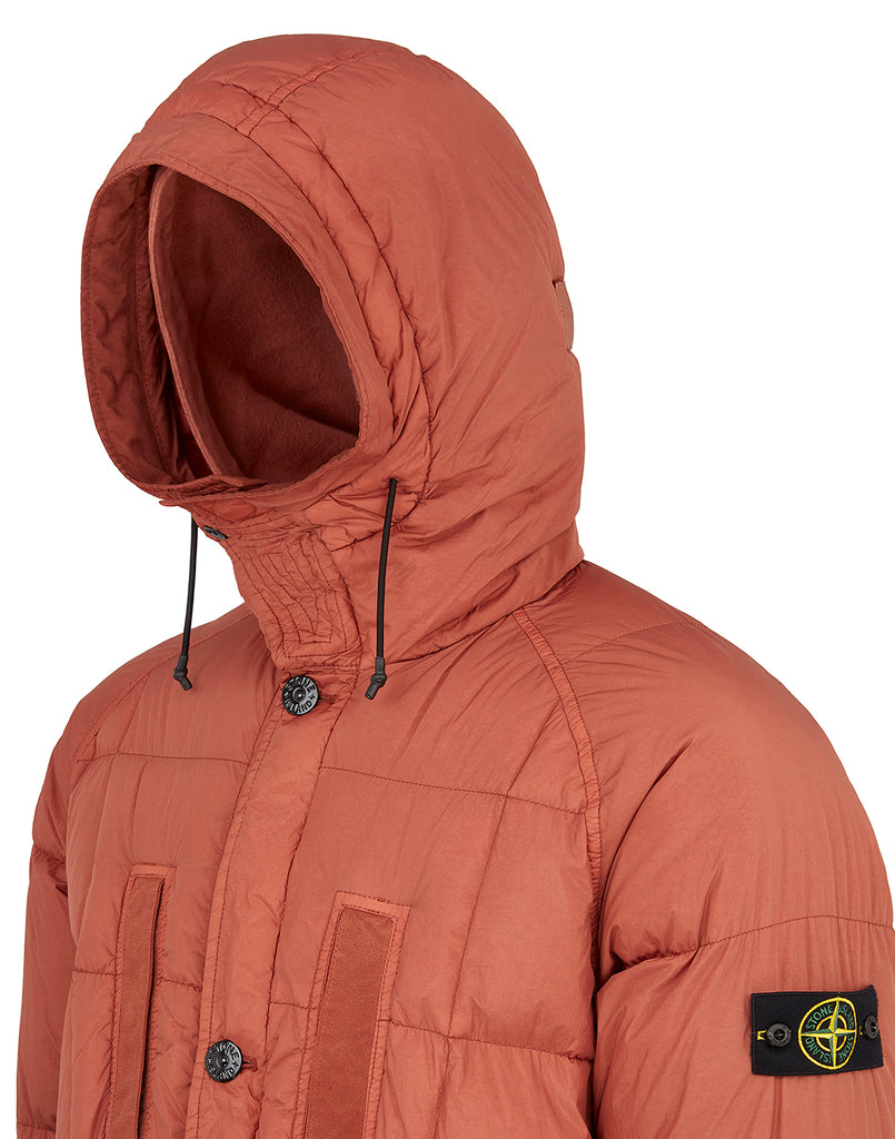 70123 Garment Dyed Crinkle Reps NY Down Jacket in Rust