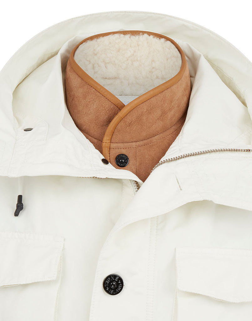 41349 David-TC Jacket with Sheepskin Detachable Lining in Ivory