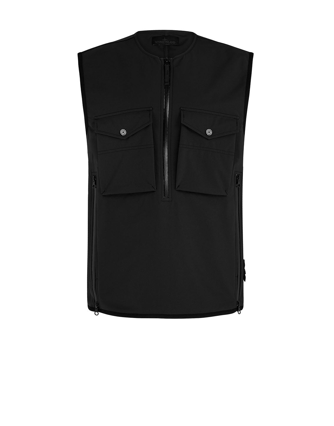G03F1 POLIESTERE  STRETCH 5 L_GHOST PIECE Jacket in Black