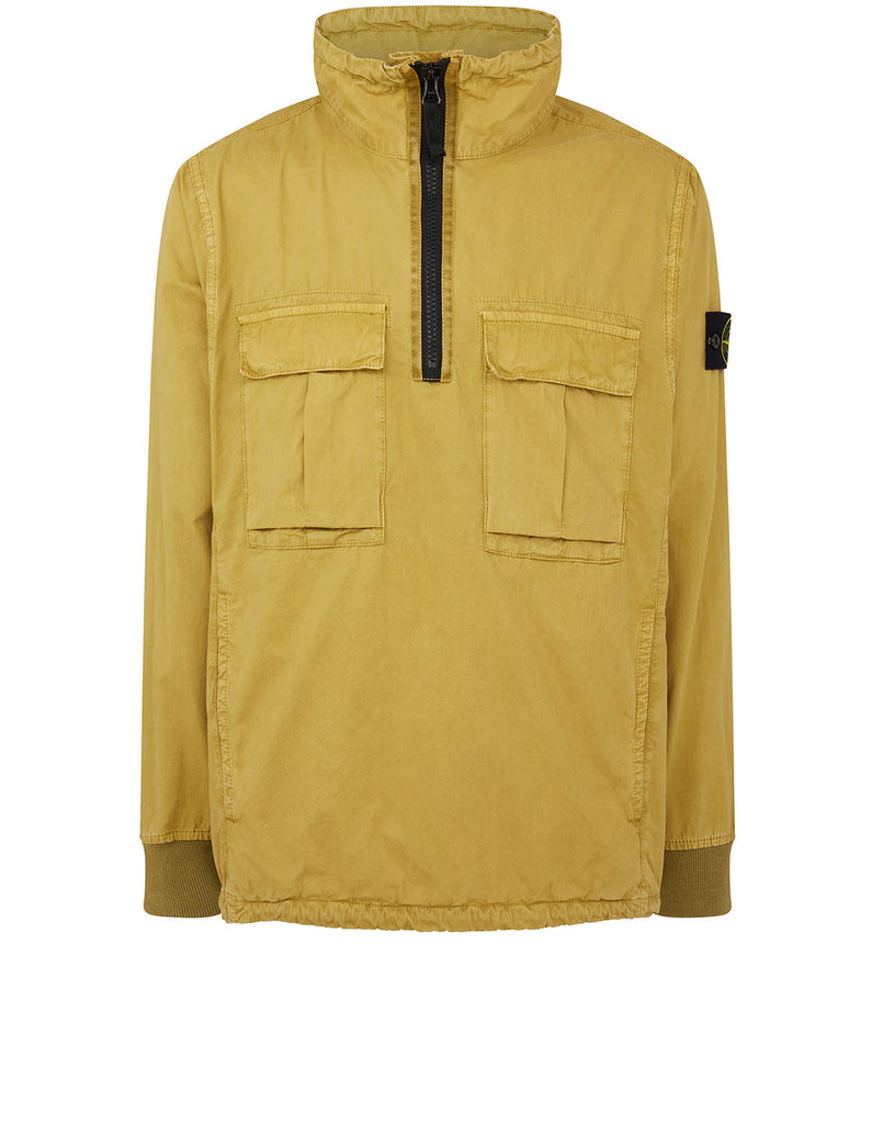 117WN 'OLD' DYE TREATMENT Overshirt in Mustard