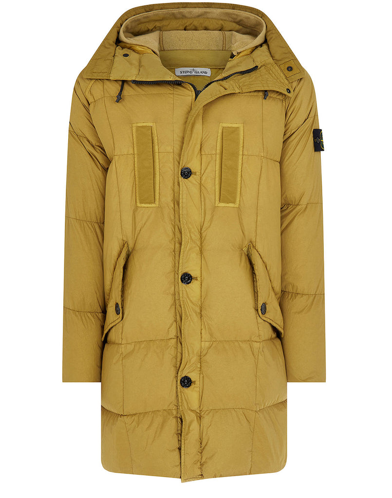 70123 Garment Dyed Crinkle Reps NY Down Jacket in Mustard
