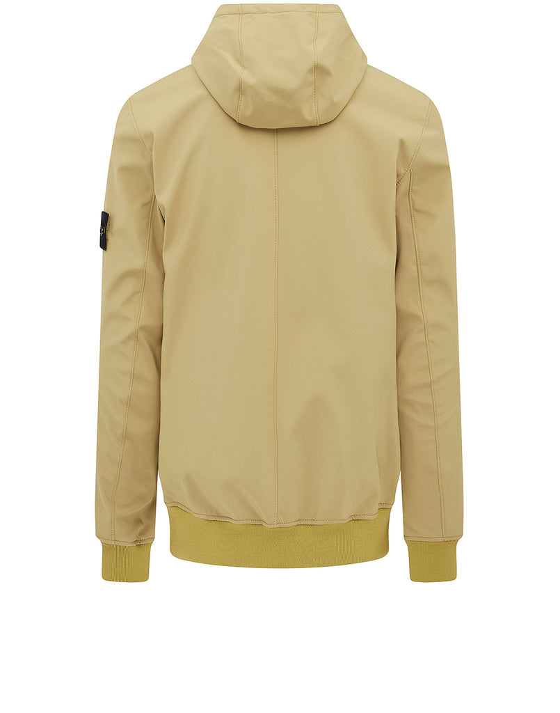 Q0222 Soft Shell-R Hooded Jacket in Mustard