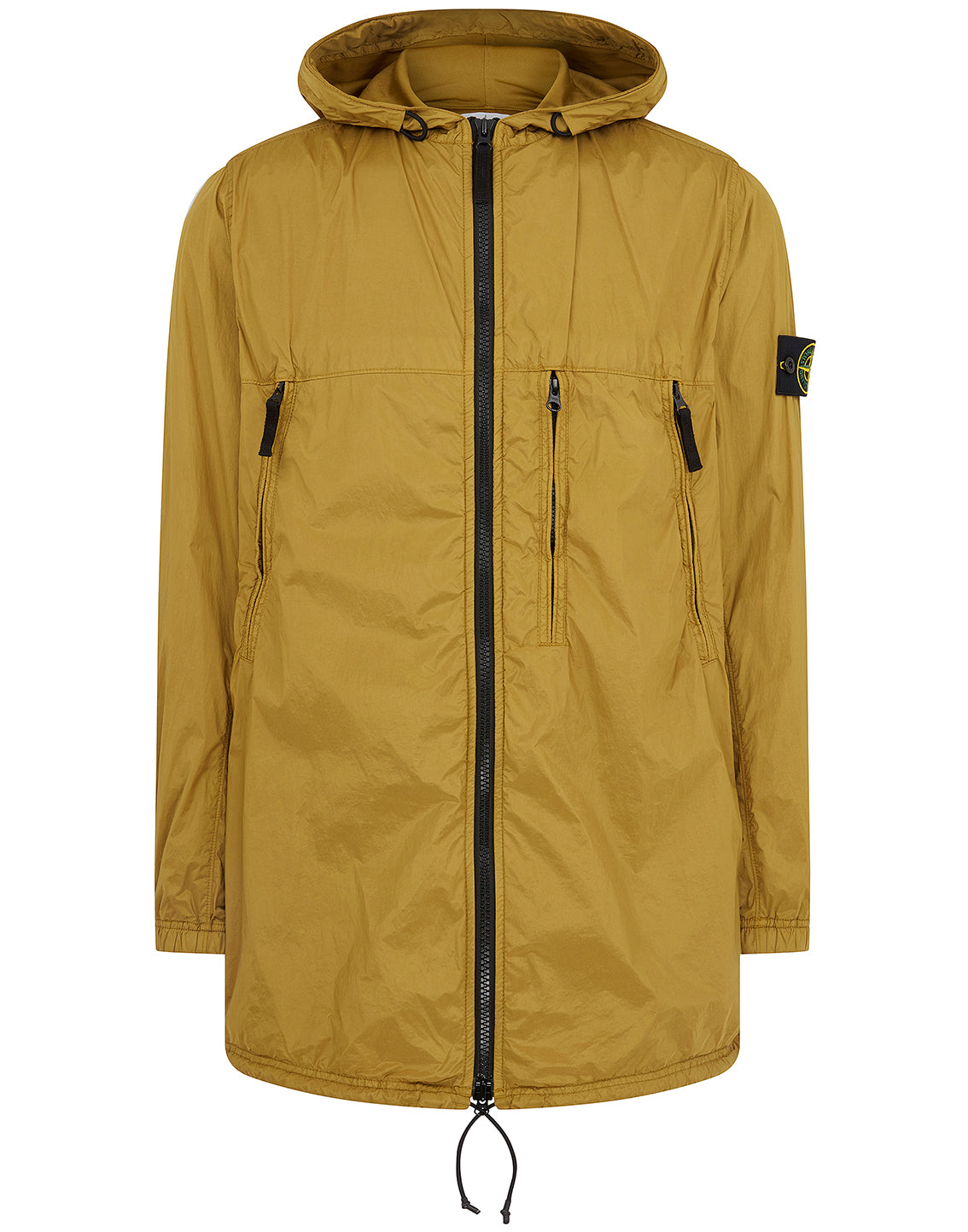 Q0523 Garment Dyed Crinkle Reps NY + Rete Isolante-TC Jacket in Mustard