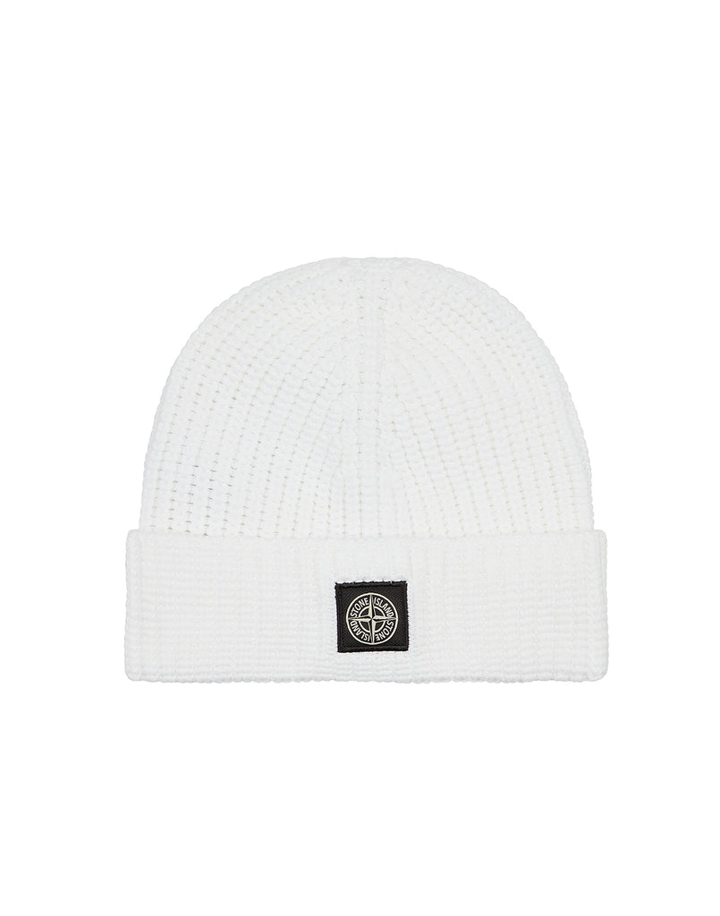 N11A8 Glow Ribbed Hat in White